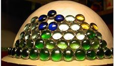 Aprende cómo hacer una lampara de mesa con gemas de vidrio ~ Belleza y Peinados