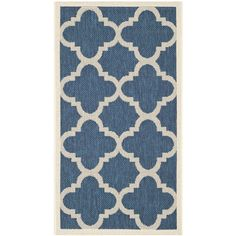 """Features:  Primary Color: -Blue; Beige.  Material: -Synthetic.  Product Type: -Area Rug.  Technique: -Machine woven. Dimensions:  Pile Height: -0.25"""". Rug Size 9' x 12' -  Overall Product Weight: -37."""