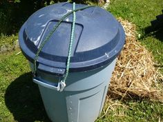 ACultivatedNest.com: garbage can compost tumbler bin