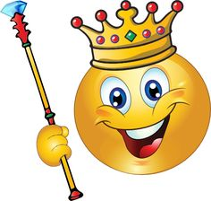 King Copy Send Share Send in a message, share on a timeline or copy and paste in your comments. This smiley rul. Smiley Face Images, Emoji Images, Funny Emoji Faces, Cute Emoji, Smileys, World Emoji, Emoji Board, Emoji Drawings, Dresses