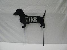 Dachshund Address Sign Metal Dog Yard Art by cabinhollow on Etsy, $35.00 OMG!!!!!!!!!!!!!!!!!!*