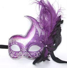 purple masquerade masks | masquerade-purple-feather-swan-masks-1536-p