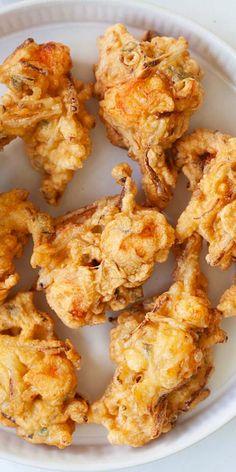 Shrimp Dishes, Fish Dishes, Shrimp Recipes, Fish Recipes, Best Appetizers, Appetizer Recipes, Shrimp Fritters, Crab Fritters Recipe, Beignets