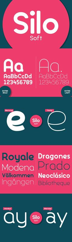Silo Soft - Designed and built in London by TypeUnion, Silo Soft is a fluid sans serif typeface embodying e...
