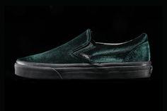Vans Drapes the Slip-On in Luxurious Green Velvet a648a9077bf