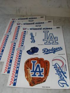 Lot Of 3 WinCraft Sports 2003 Los Angeles Dodgers Window Clings. Win Craft.