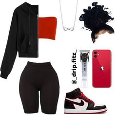 Cute Lazy Outfits, Baddie Outfits Casual, Swag Outfits For Girls, Teenage Girl Outfits, Cute Swag Outfits, Girls Fashion Clothes, Teen Fashion Outfits, Retro Outfits, Girly Outfits