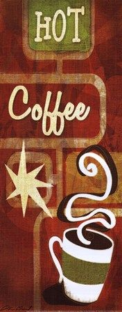 Retro Coffee III Art Print by Stacy Gamel