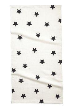 Star-print rug: Cotton rug with a star print.
