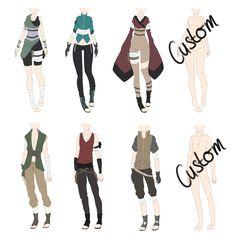 Naruto Outfit Adoptables 3 [CLOSED] by xNoakix3.deviantart.com on @DeviantArt