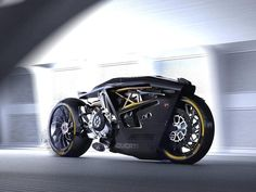 """ducatiobsession: """"👍🏻or 👎🏻? Ducati Valiente 🖤 Concept Designed by Doruk Erdem and . Concept Motorcycles, Custom Motorcycles, Custom Bikes, Cars And Motorcycles, Ducati Diavel, Ducati 998, Futuristic Motorcycle, Futuristic Cars, Moto Bike"""