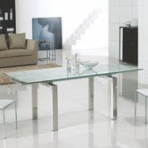 Found it at Wayfair - Frosty Extendable Dining Table