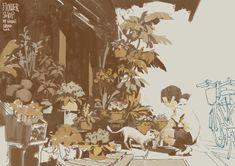 ArtStation - FlowerShop, Krenz Cushart