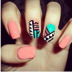 Classic Aztec nails