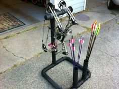 5thconcept : New bow stand all done mission riot and mission craze sitting on there