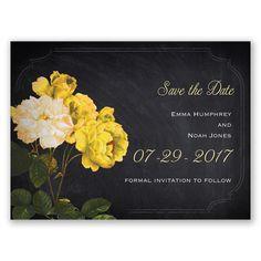Ravishing Roses - Canary - Save the Date