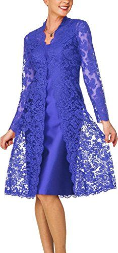 H.S.D Women's Short Mother of the Bride Dress with Lace B...