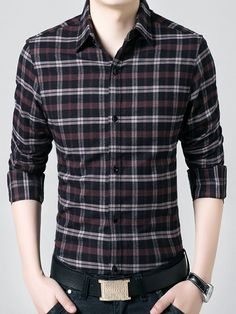 Doora - offering Collar Neck S And XL Mens Checks Shirt at Rs in New Delhi, Delhi. Mens Dress Outfits, Formal Men Outfit, Stylish Mens Outfits, Men Dress, Dress Shirt, Check Shirt Man, Man Shirt, Vogue Men, Casual Shirts