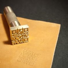 Custom Leather Stamp with hammering handle for leather emboss