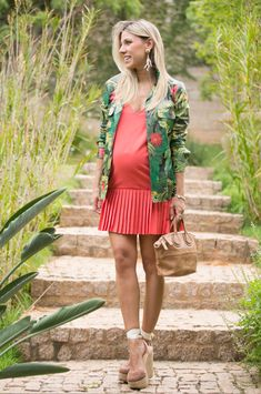 DRESS & JACKET Maternity Swim, Cute Maternity Outfits, Fall Maternity, Stylish Maternity, Maternity Dresses, Maternity Fashion, Pregnancy Wardrobe, Pregnancy Outfits, Bump Style