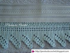 * Pérolas do Crochet: Barradinho de Croche