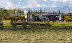 """Juegos_de Maquinas de Construccion:  Un juego """"pesado"""", en cada nivel tendrás que hacer unas pruebas con distintas máquinas pesadas y difíciles de manejar."""