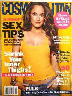 COSMOPOLITAN Magazine, Cover MINKA KELLY, Unread, 2011 Sex Tips Seduction DATING