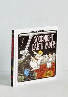 Ready to tuck in? Reach for the amusing but adorable story found in this Star Wars parody hardcover book from Chronicle Books, available for purchase in January! A rhyming tale written and illustrated by Jeffrey Brown, this 64-page book follows Darth Vader in a classic conundrum of fatherhood as he tries to get Luke and Leia to sleep by telling them of the bedtime routines of familiar characters across the galaxy.