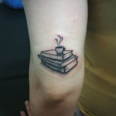 Dotwork Book Tattoo by Demetrius Mavromatis