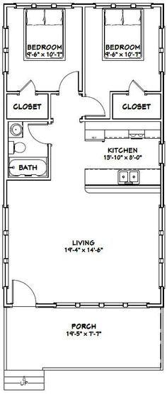 20x38 House -- #20X38H1 -- 760 sq ft - Excellent Floor Plans