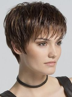Scape by Ellen Wille - Synthetic Lace Front Monofilament Crown Wig Ellen Wille SCAPE Monofilament C Short Hairstyles For Thick Hair, Very Short Hair, Short Hair Cuts, Easy Hairstyles, Curly Hair Styles, Pixie Cuts, Wavy Hair, Layered Hairstyles, Hairstyles 2018