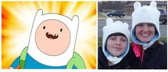 Doodah Kids Clothing: Adventure Time Finn Hat *free sewing pattern and tutorial* White Hat with Ears