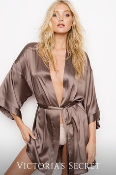 Maybe wrap EVERYTHING in a satin kimono. | Victoria's Secret
