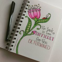 Be determined!!! #watercolors #tombow #motivation #inspirational #handlettering #debipaynedesigns
