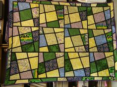 Magic Tiles!  I see lots of pieces that remind me of other quilts!  Always a fun design!  I particularly like the order on this one.  Donated to the Stollery in Edmonton