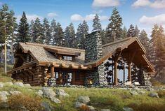15 increíbles diseños de casas estilo cabaña de troncos para su inspiración - Paradise Home, Log Cabin House Plans, Log Home Plans, Tiny House Cabin, Cabin Style Homes, Log Cabin Homes, Cabins In The Woods, House In The Woods, Chalet House, Timber House