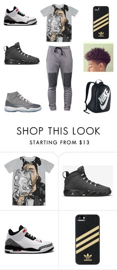 """""""bluntz"""" by aleisharodriguez ❤ liked on Polyvore featuring NIKE, adidas, Thot, men's fashion and menswear"""