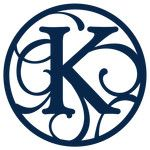 circle flourish monogram k