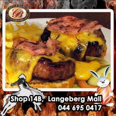 What better way to give your hunger a knockout out punch, than with the Two fisted Jackson Burger from the Cattle Baron Mossel Bay. Cheese, bacon and burger patties times 2 served with a side of chips. A good reason to get out and come on down. Beef Dishes, Baron, Cattle, Burgers, Hamburger, Punch, Bbq, Jackson, Chips