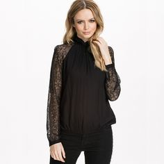 RICHCOCO Summer Spring Autumn Fashion Women's Shirts Streetwear Long Sleeved Lace Patchwork Turtleneck Chiffon Blouses D814