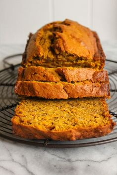Pumpkin Banana Bread- use coconut oil, applesauce, and honey instead of sugar and butter