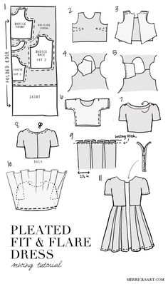 Merrick's Art // Style + Sewing for the Everyday Girl: DIY FRIDAY: PLEATED FIT + FLARE DRESS TUTORIAL
