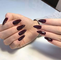 45 Simple and Charming Wine Red Nail Art Designs;Wine Red S. 45 Simple and Charming Wine Red Nail Art Designs; Red Stiletto Nails, Dark Red Nails, Red Acrylic Nails, Red Nail Art, Burgundy Nails, Burgundy Wine, Red Burgundy, Red Wine, Dark Nail Art