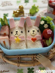 How to Make Bread Roll Bunny Kyaraben Bento by mihochin