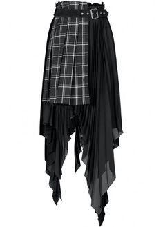 Punk Fashion, Fashion Outfits, Fashion Ideas, Punk Dress, Punk Rave, Frocks For Girls, White Plaid, Black White, Tartan Plaid