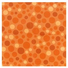 Orange Dots lunch napkin