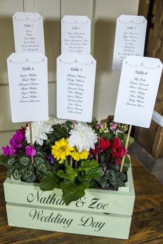 Flower based seating plan. A brilliant idea for those who are looking for something unique.