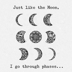 Twist on moon phases Lotusblume Tattoo, Moon Juice, The Body Book, Moon Child, Stars And Moon, Beautiful Words, Tattoo Inspiration, Tatoos, Body Art