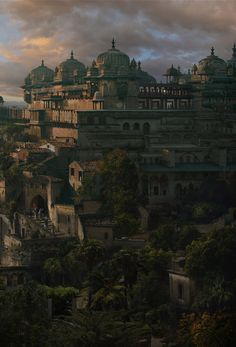 Ancient city matte painting on Behance