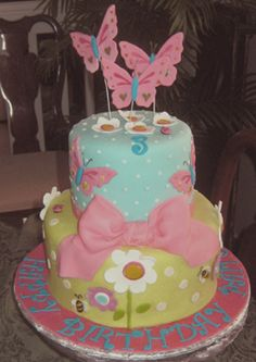 LITTLE GIRL BIRTHDAY CAKES IMAGES | birthday girl cake based on the napkin for a 3 year old s birthday ...